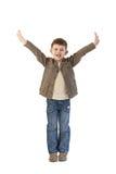 arms den lyckliga ungen little öppet brett Royaltyfria Foton