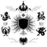 Arms with different supporters Stock Images
