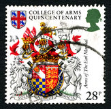 Arms of the Earl Marshal UK Postage Stamp Royalty Free Stock Photography