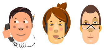 arms för forgroundman för bakgrund skäggiga korsade arbetare för kvinna för telefon för kontor plattform talande Arkivfoton