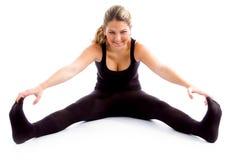arms female her legs sitting stretching Στοκ Εικόνα