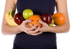 Arms full of fruit Royalty Free Stock Photography