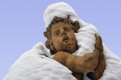 Arms full of snow Stock Photos
