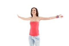 arms girl laughing open trendy wide Στοκ φωτογραφία με δικαίωμα ελεύθερης χρήσης