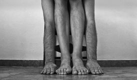 Arms and hands, legs and feet Royalty Free Stock Photos