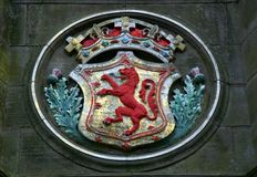 arms kungliga scotland royaltyfri bild