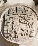 Arms of Lviv city, Ukraine Stock Image