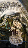 Arms made with bones in Sedlec ossuary, Kutna Hora Stock Image