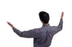 Arms Open Wide. A man standing with his arms open wide Stock Photography