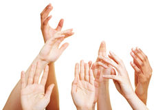 Arms reaching up Stock Photography