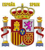 The arms of Spain royalty free stock photography