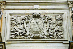 The arms of Thuringia. From a stone grey colour on a wall of a building of station Royalty Free Stock Photography