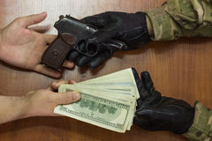 The arms trade. Royalty Free Stock Photo
