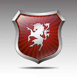 Arms in an unicorn  Stock Images