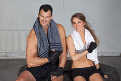 Arms up - fitness team after crossfit fitness training Stock Images