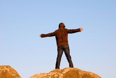Arms wide open Royalty Free Stock Photos