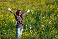 With Arms Wide Open Stock Photography