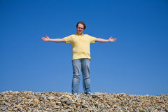 Arms wide open Royalty Free Stock Photo