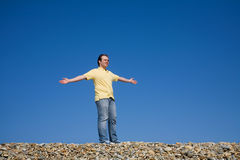 Arms wide open Royalty Free Stock Image