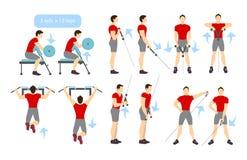 Arms workout set. Stock Photo