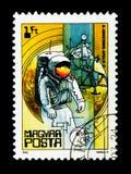Armstrong, απόλλωνας 11, 1969, διαστημική έρευνα serie, circa 1982 Στοκ Φωτογραφία