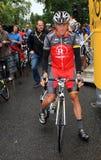 armstrong cyklistlance Arkivfoto