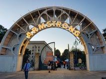 Armstrong-Park-Eingang lizenzfreies stockbild