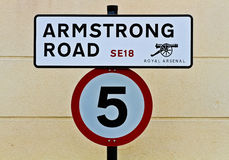 Armstrong Road street sign Stock Photos