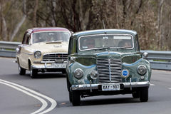 1951 Armstrong Siddeley Whitley Sedan. Adelaide, Australia - September 25, 2016: Vintage 1951 Armstrong Siddeley Whitley Sedan driving on country roads near the Stock Photo