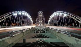 Armstrong-Strandherd Bridge at Night Stock Images