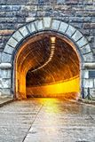 Armstrong tunnel i Pittsburgh Arkivfoto