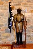 Armure à l'intérieur de la forteresse de Fagaras, comté de Brasov Images stock