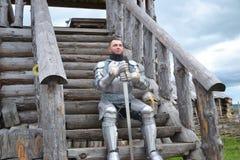 Armure chevaleresque et arme Photo stock