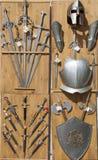 Armure, couteaux, et épées, Toledo, Espagne Photos stock