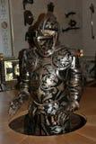 Armure décorative dans le château Rabenstein, Bavière, Allemagne du sud Images stock