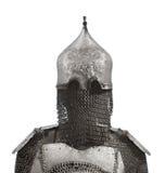Armure de casque et de cotte de maille d'isolement. Photos libres de droits