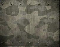 Armure militaire en métal avec l'illustration du camouflage 3d Photo stock