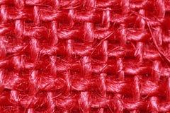 Armure rouge de tissu de toile à sac image libre de droits