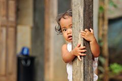 Armut-Kind lizenzfreies stockfoto
