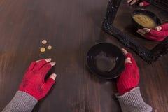 Armut- und Illusionskonzept stockfotos
