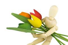 Armvol bloemen royalty-vrije stock foto