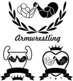 Armwrestling. Vector illustration (EPS 10 Royalty Free Stock Photo