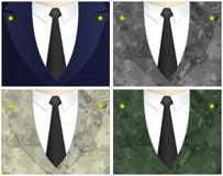 Army. Four different army uniforms. (illustration Royalty Free Stock Images