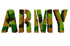 Army. A 3D word of Army Royalty Free Stock Images