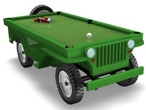 Army. Green Cool jeep for games Stock Image