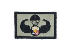Army Airborne wings patch, Philippines, Isolated stock photo