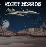 Army Airforce in Night Mission. Illustration Stock Photography