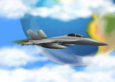 Army Airforce on the Sky. Illustration Royalty Free Stock Image