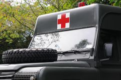 Army ambulance. Medical service in the army to attend to the combat personnel who are injured Stock Images