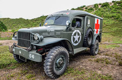 Army ambulance. US Army ambulance, used 1944 in Normandy invasion France, restored Stock Images